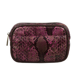 Bulaggi Collection Protea Snake Skin Print Crossbody Bag - Fuchsia