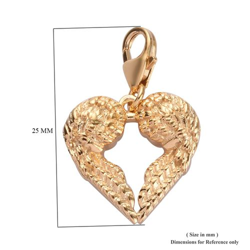 Angel Wings Charm in Gold Plated 925 Sterlig Silver