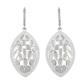 Artisan Crafted Polki Diamond Earrings in Sterling Silver 1.50 Ct, Silver wt 6.30 Gms