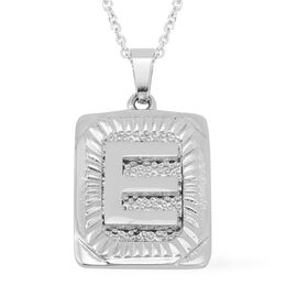 Initial E Pendant with Chain (Size 22) in Stainless Steel