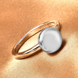 LucyQ Smartie Collection - Rhodium Overlay Sterling Silver Ring, Sliver Wt. 4.60 Gms