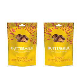 Buttermilk 2 x 100g Dairy Free Peanut Butter Crunch