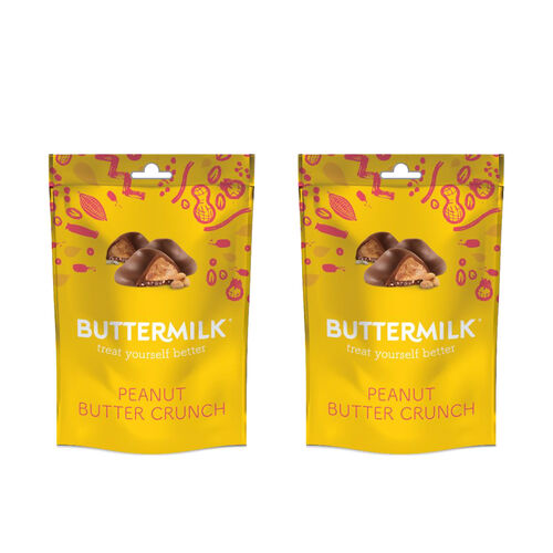 Buttermilk 2 x 100g Dairy Free Peanut Butter Crunch