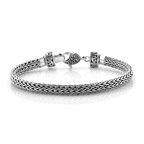 Bali Legacy Collection Sterling Silver Tulang Naga Bracelet (Size 6.5), Silver wt 19.55 Gms.