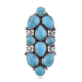 Santa Fe Collection - Turquoise Ring in Sterling Silver 2.500 Ct., Silver Wt. 6.00 Gms