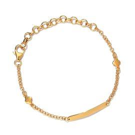 14K Gold Overlay Sterling Silver Bracelet (Size 5.5 with 2 inch Extender)