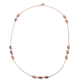 RACHEL GALLEY Pebble Collection - Rose Gold Overlay Sterling Silver Station Necklace (Size 30), Silv