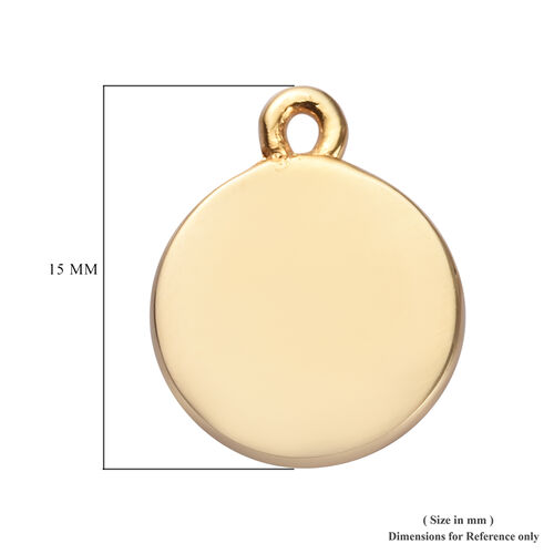 Sundays Child - Yellow Gold Vermeil Sterling Silver Sterling Silver Charm
