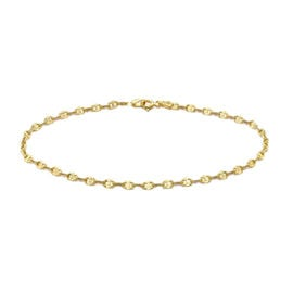 9K Yellow Gold Mariner Anklet (Size 9), Gold wt 1.20 Gms