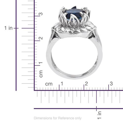 Ceylon Colour Quartz (Rnd) Solitaire Ring in Platinum Overlay Sterling Silver 5.500 Ct.