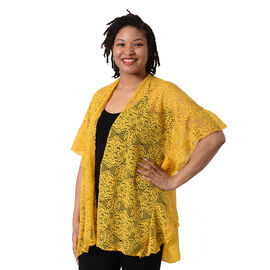Jovie Floral Lace Kimono in Mustard (Size 70x75cm)