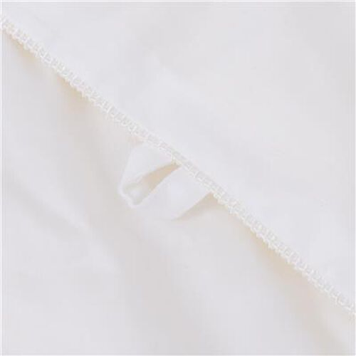 Premium Quality 100% Mulberry Silk Filled Cotton Duvet in Double Size (200x200 cm) - White
