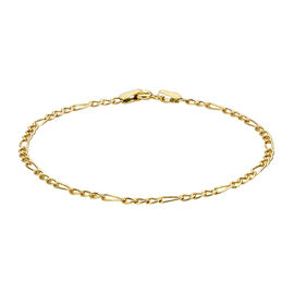 9K Yellow Gold Figaro Bracelet (Size 7.5)