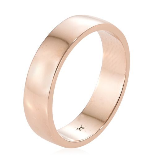 5mm Plain Wedding Band Ring in 9K Rose Gold 3.73 grams