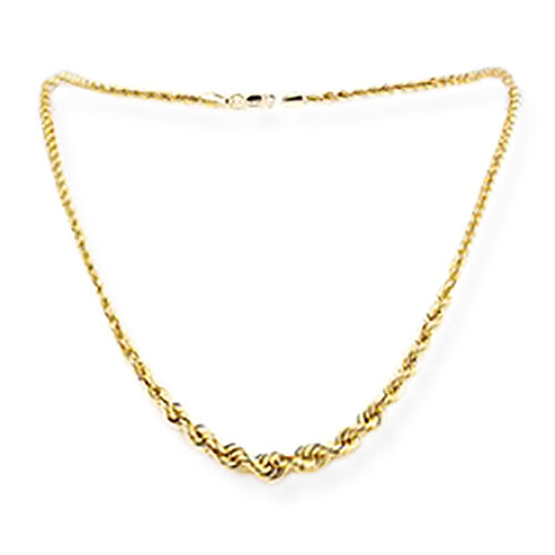 Italian Made-9K Yellow Gold Rope Necklace (Size 20), Gold wt 5.51 Gms.