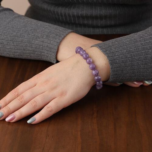 Lepidolite Beads Bracelet (Size 6.5) 165.00 Ct.