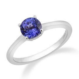 ILIANA 1 Carat AAA Tanzanite Solitaire Ring in 18K White Gold 3.40 Grams