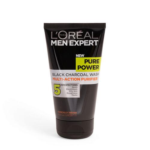 LOreal Men Expert Pure Power Black Charcoal Wash Multi-Action Purifier 150ml