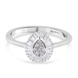 RHAPSODY 950 Platinum IGI Certified Diamond (VS/E-F) Ring 0.33 Ct.