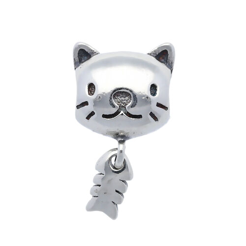 Sterling Silver Cute Kitty Charm