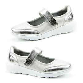 Heavenly Feet Alexia Ladies Memory Foam Trainer   - Silver