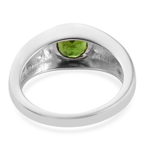Russian Diopside (Rnd 6.0mm) Solitaire Ring in Sterling Silver 1.000 Ct.