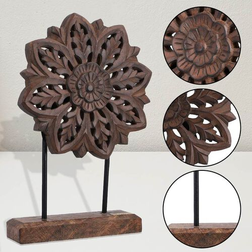 NAKKASHI - Hand Carved Decorative Sculpture - Natural