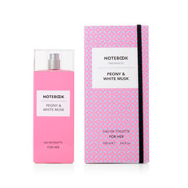 Notebook Fragrances: Peony & White Musk Eau De Toilette - 100ml