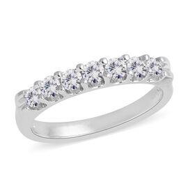 14K White Gold Diamond (Rnd) (I1-I2/G-H) Band Ring 0.500 Ct.