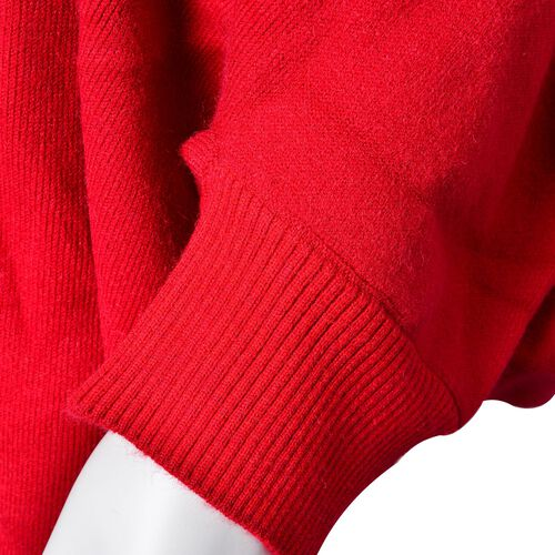 Designer Inspired - Red Colour Longer Line Reversible Kimono with Tassels (Free Size)