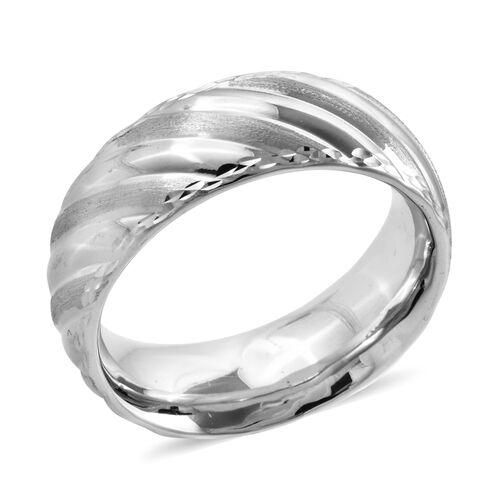 Royal Bali Premium Collection Band Ring in 9K White Gold 2.43 Grams