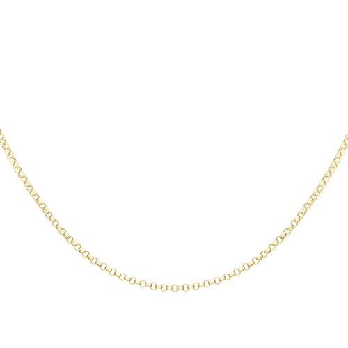 9K Yellow Gold Round Belcher Chain (Size 18), Gold wt 2.53 Gms