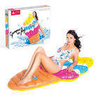 Inflatable Ice Cream Cone Pool Float- Yellow Colo