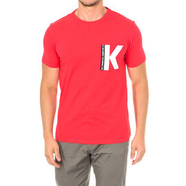 Karl Lagerfeld Mens Logo T-Shirt Short Sleeve in Red Colour