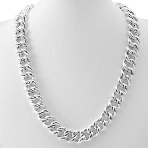 Sterling Silver Curb Necklace (Size 20), Silver wt 63.20 Gms.