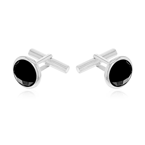 One Time Deal - Sterling Silver Black Onyx Cufflinks.Silver Wt 7.30 Gms.