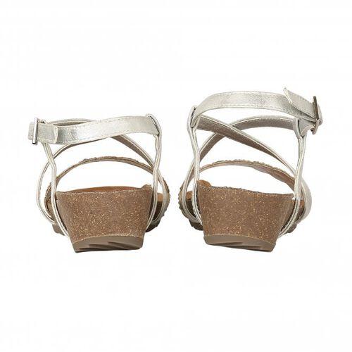 Lotus Silver Glitz Sienna Wedge Sandals (Size 5)