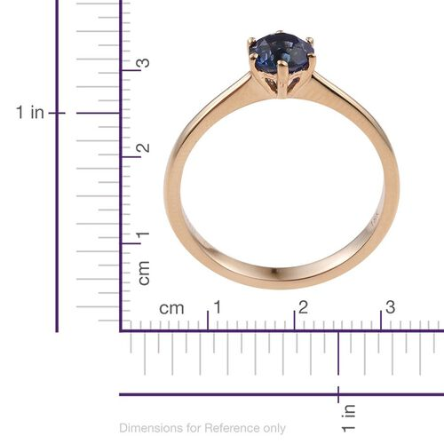 ILIANA 18K Yellow Gold AAA Tanzanite (Rnd) Solitaire Ring 1.000 Ct.