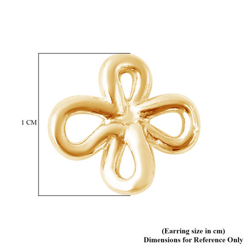 LucyQ Splash Collection - Yellow Gold Overlay Sterling Silver Stud Earrings (with Push Back)