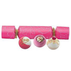 Bath Bomb: Berry Cracker (With 3 Bath Bombs)
