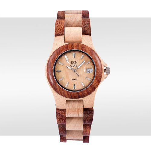 100% Natural Hand-Crafted Rosewood and Maplewood - EON 1962 Japanese Movement Watch
