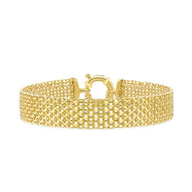 OTO - 9K Yellow Gold Bismark Bracelet (Size 7.5), Gold wt 7.80 Gms