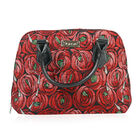 SIGNARE-Tapestry Collection - Rose & Pear Top-Handle Shoulder Bag with Removable Strap ( 36 x 23 x 1