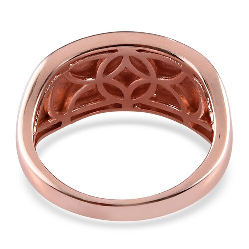 Diamond Cluster Ring in Rose Gold Overlay Sterling Silver