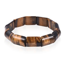 One Time Deal-Extremely Rare Shape Tiger Eye (Cush) Stretchable Bracelet 300.00 Ct.