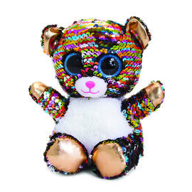 Keel Toys - Glitter Motsu - Silver and Multicolour Sequins Teddy Bear