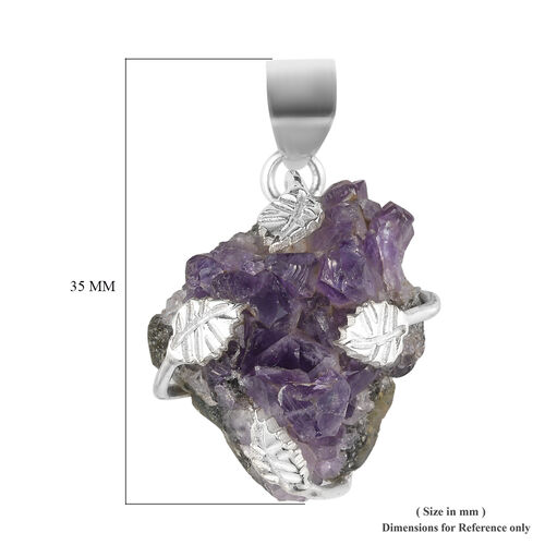 (Option 2) Amethyst Geode Pendant in Sterling Silver 54.11 Ct.