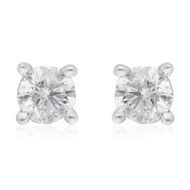 ILIANA 18K Yellow Gold SGL Certified Diamond (SI/G-H) Stud Earrings (with Screw Back) 0.20 Ct.