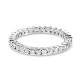 9K White Gold SGL Certified Diamond (I3/ G-H) Full Eternity Ring 1.00 Ct.