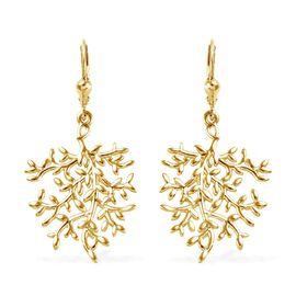Designer Inspired- 14K Gold Overlay Sterling Silver Lever Back Earrings